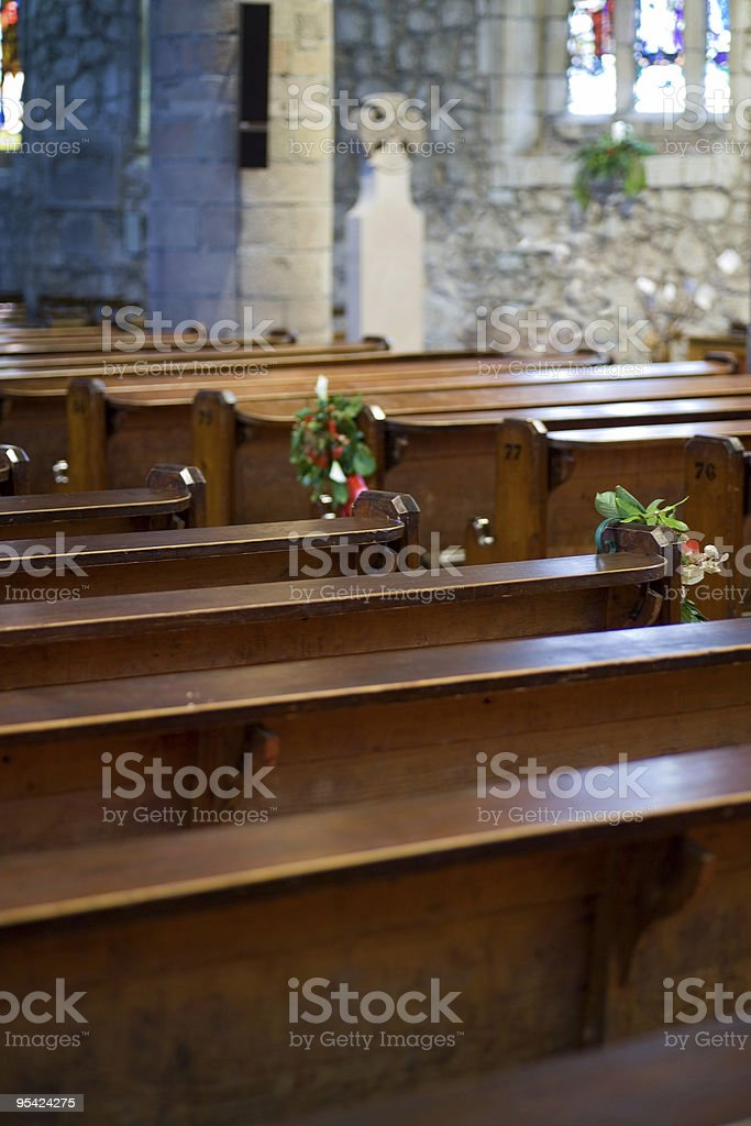 Church at Christmas royalty-free stock photo