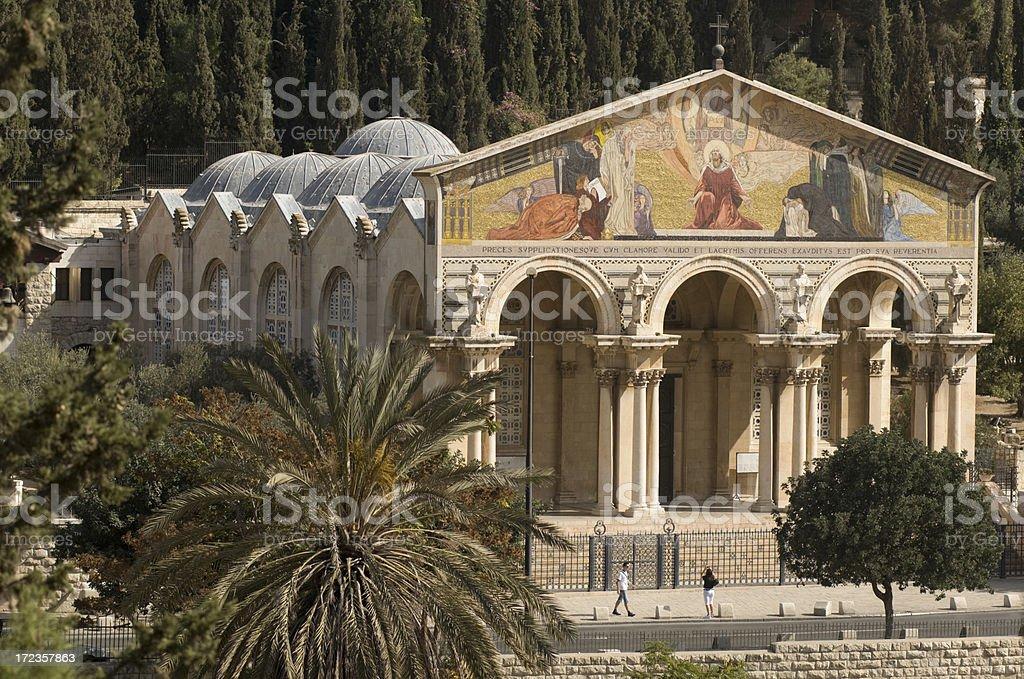 Church at Gethsemane royalty-free stock photo