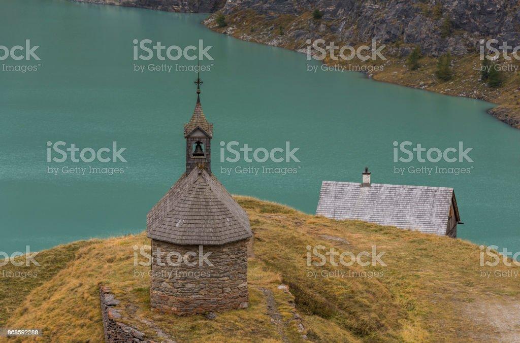 Church at Grossglockner stock photo