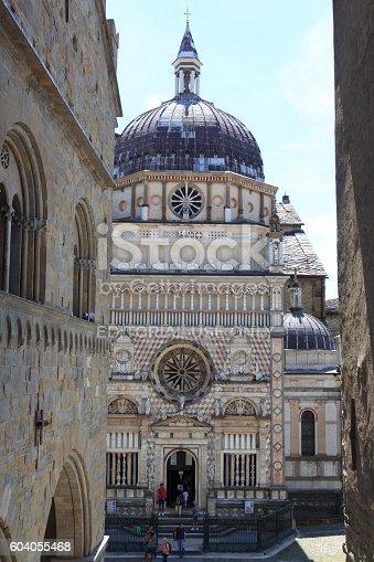 istock Church Basilica Santa Maria Maggiore in Bergamo, Citta Alta, Italy 604055468