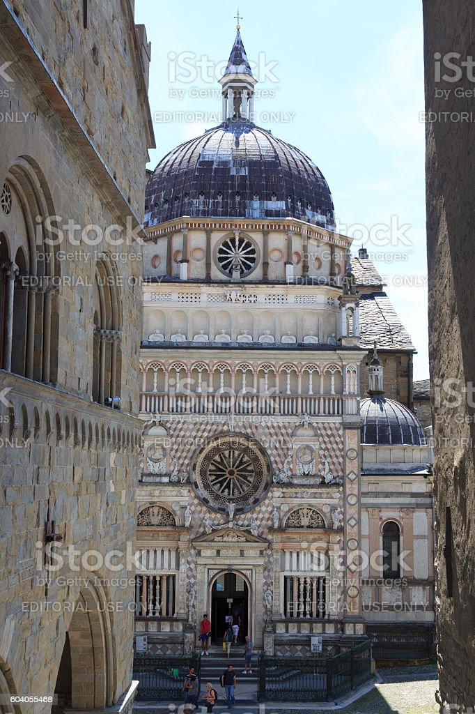 Church Basilica Santa Maria Maggiore in Bergamo, Citta Alta, Italy stock photo