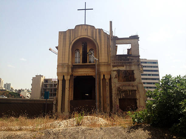 church, beirut, lebanon - beirut explosion 個照片及圖片檔