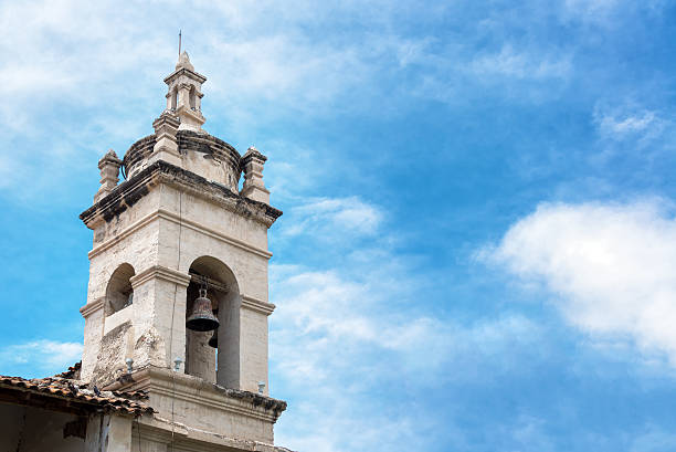 Church Bell Tower in Ayacucho, Peru stock photo