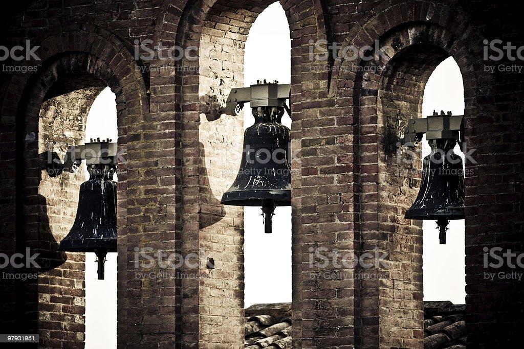 Church bells in Siena royalty-free stock photo