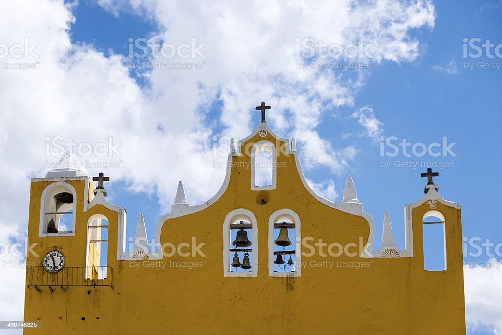 Church bells on church facade. -XXXL royalty-free stock photo