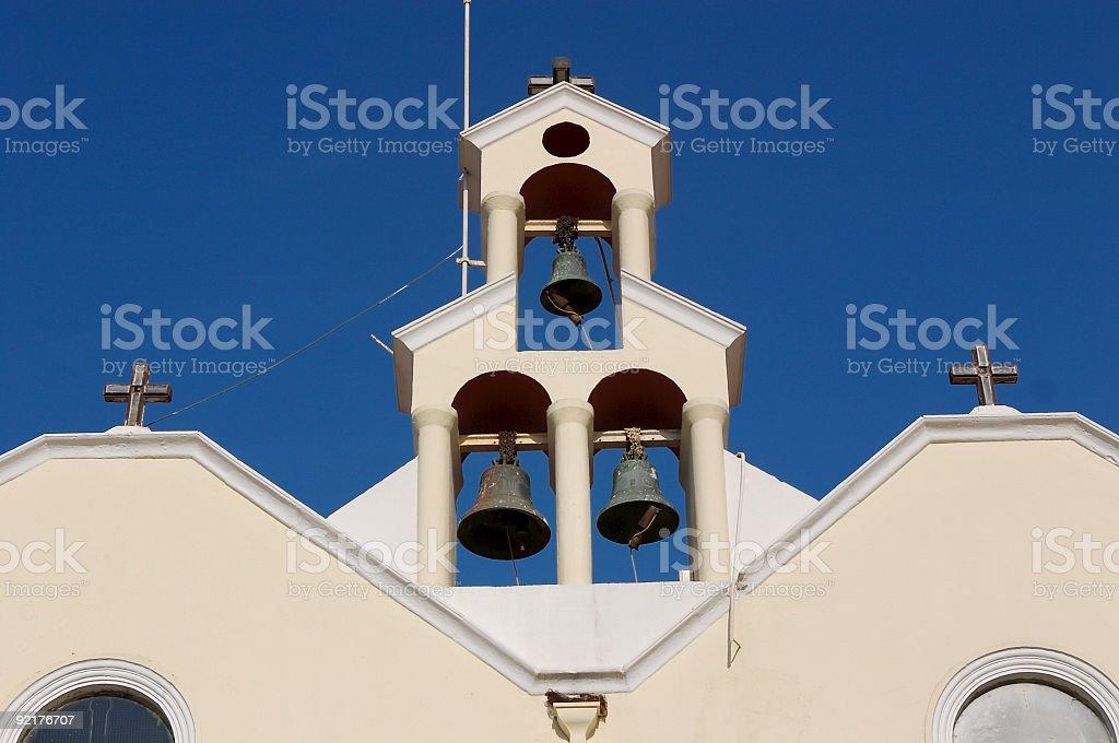 Church bells stock photo