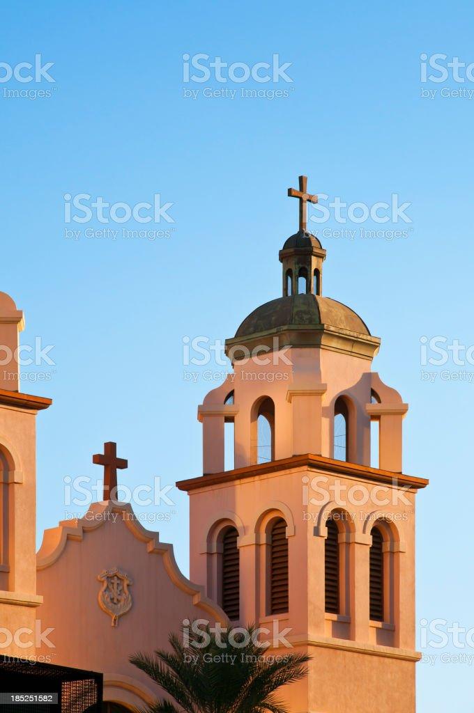 Church Belltower stock photo