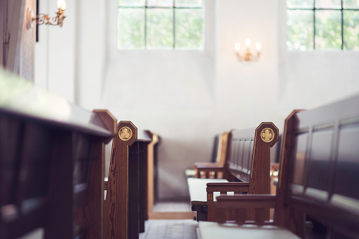 Church Benches Stock Photo - Download Image Now