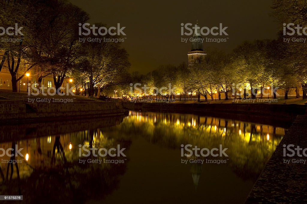 Church by the river royalty-free stock photo