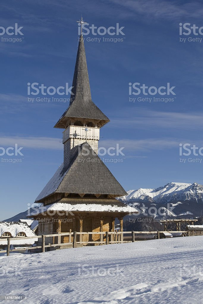 Church by Winter stock photo