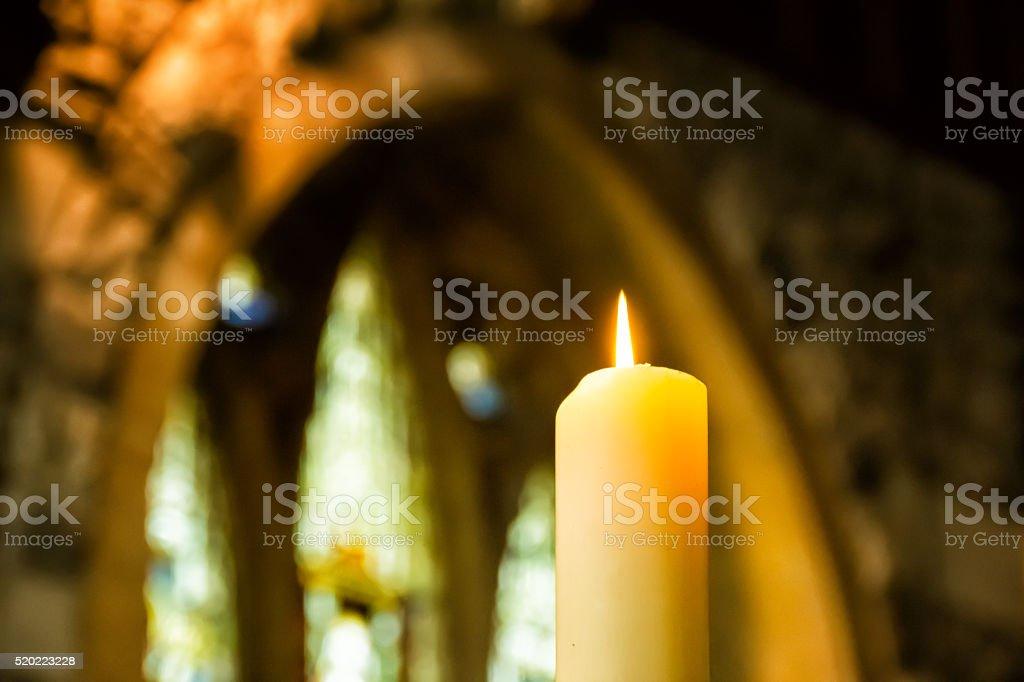 Église avec bougie - Photo