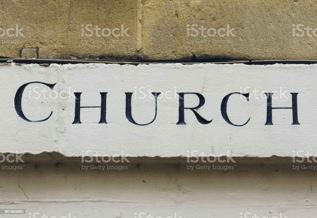 Church Carved in the Stone stock photo