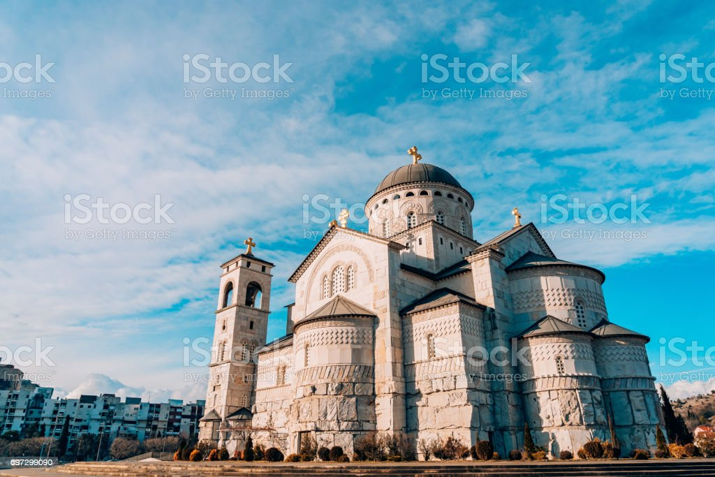 Church Cathedral of the Resurrection of Christ in Podgorica stock photo