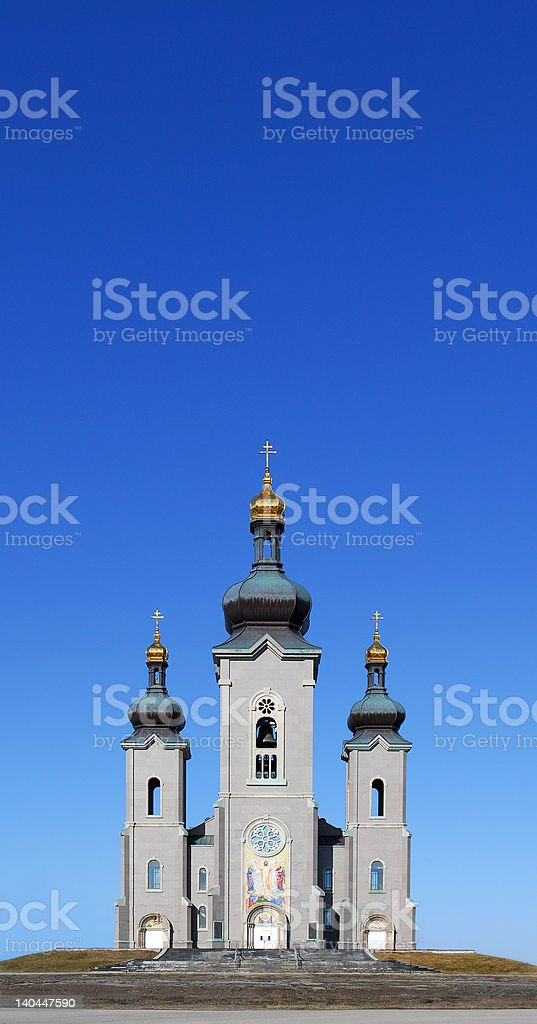 Church Cathedral under blue sky royalty-free stock photo
