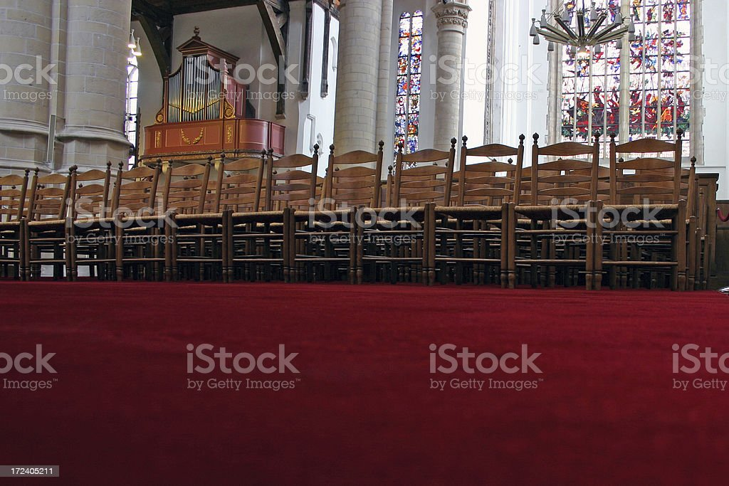 Church Chairs royalty-free stock photo