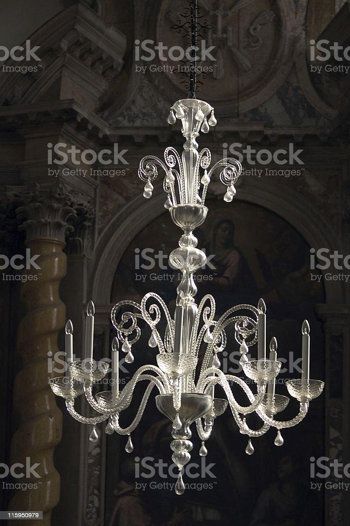 Church Chandelier royalty-free stock photo