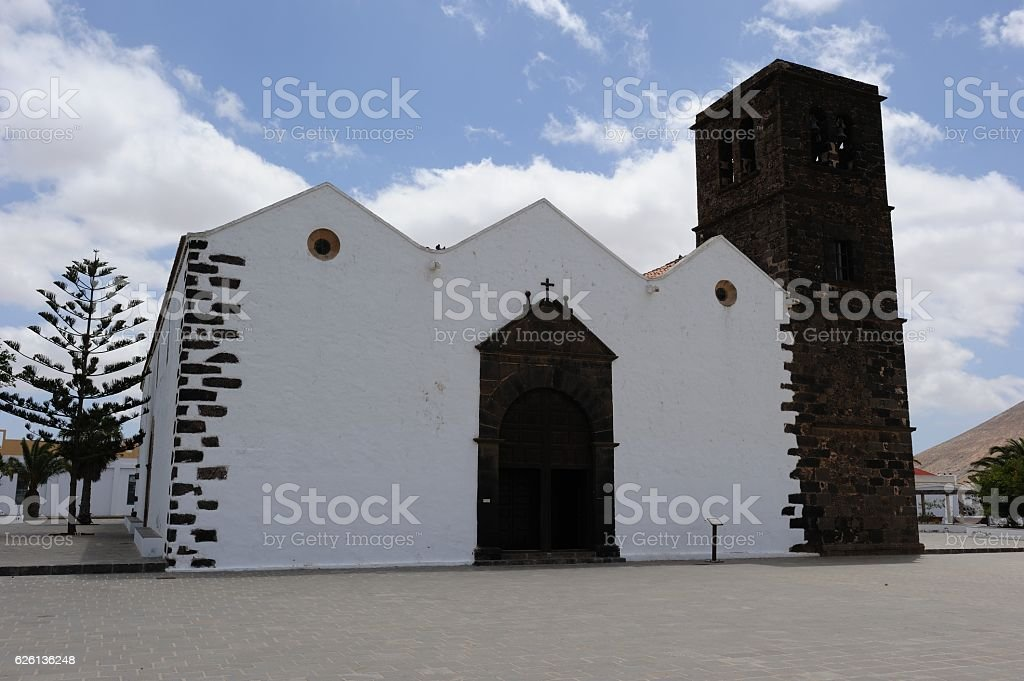 Church Iglesia de Nuestra Señora de la Candelaria on Fuerteventura stock photo