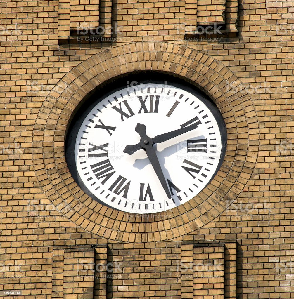 church clock - Royalty-free Brick Stock Photo
