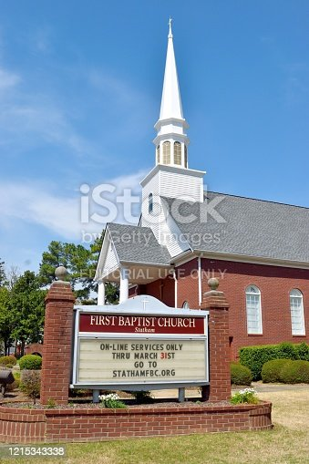 istock Church Closed Due To Coronavirus Outbreak 1215343338