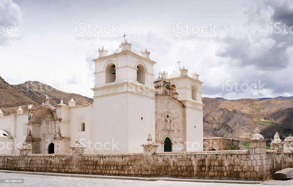 Church - Colca Canyon in Peru stock photo