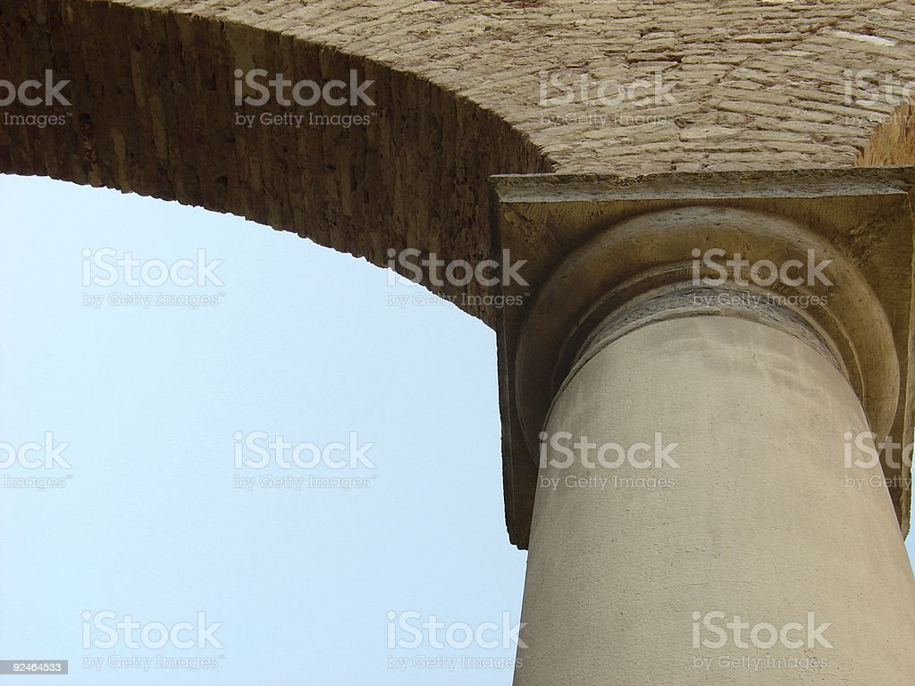 Church Column stock photo