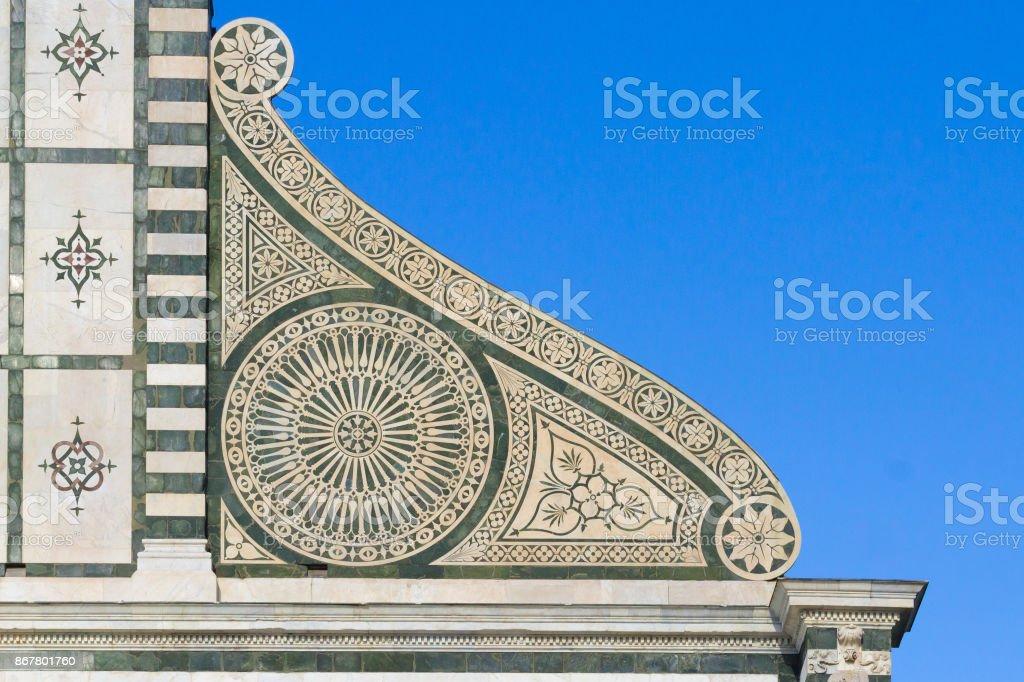 Church decorations detail. Santa Maria Novella stock photo