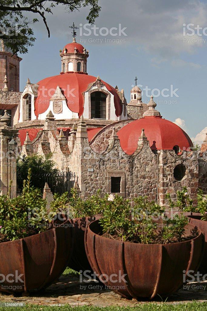 Church del Carmen Church del Carmen in historical center of Morelia, Michoacan, Mexico. Architectural Dome Stock Photo