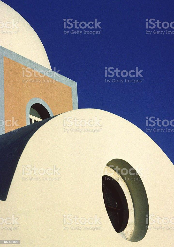 Church Detail, Fira, Santorini, Greece royalty-free stock photo