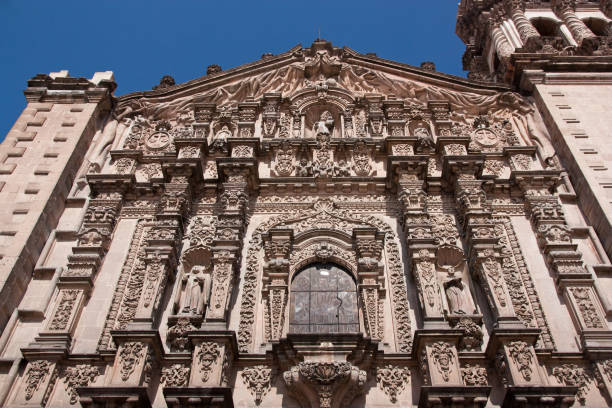 Church details facade in San Luis Potosi Church details facade in San Luis Potosi, Mexico san luis potosi stock pictures, royalty-free photos & images