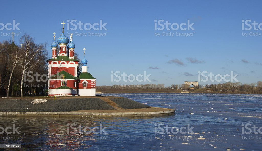 Church Dmitry on the Blood in Uglich stock photo