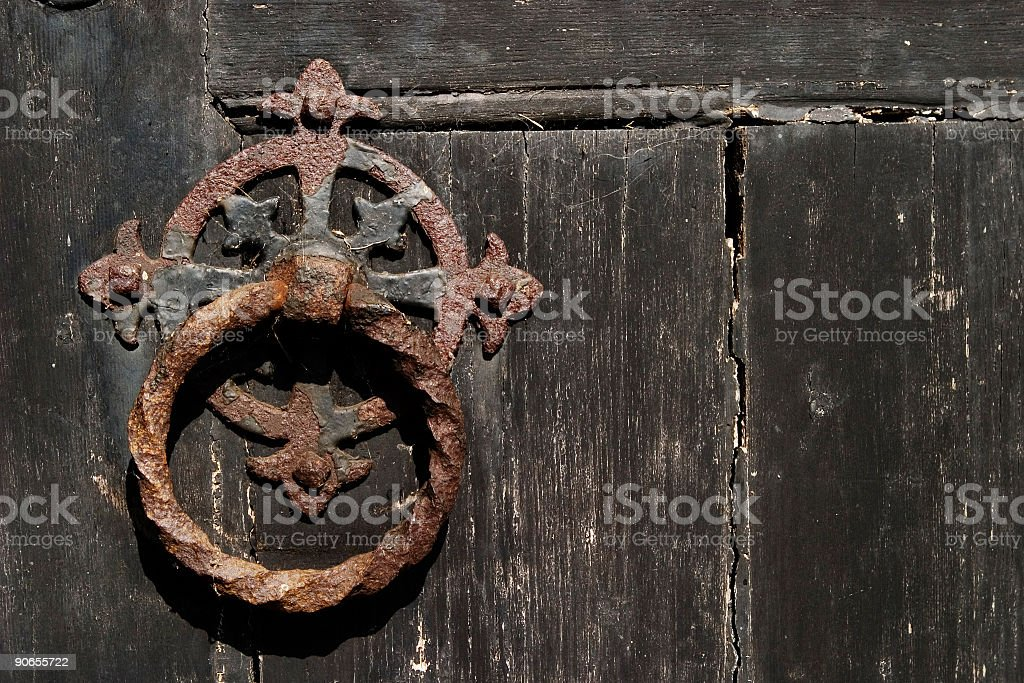 Church door handle 001 royalty-free stock photo