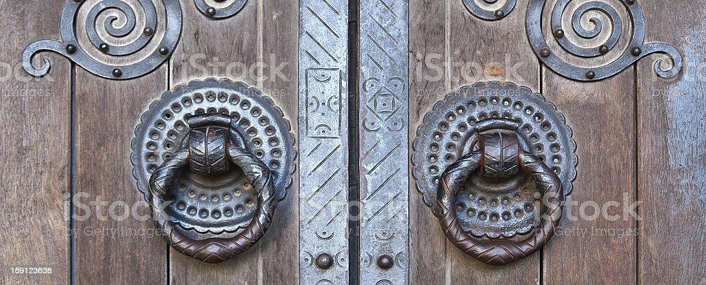 Church Door Knocker royalty-free stock photo