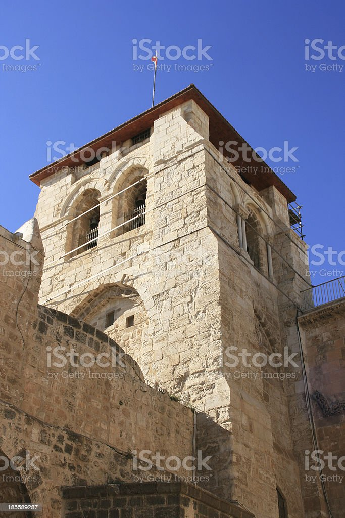 Church door of the Holy Sepulchre in Jerusalem, Israel. royalty-free stock photo