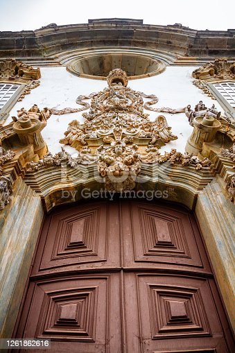 Detail of the São Francisco de Assis church entrance in São João del-Rei