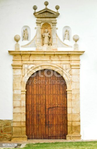 An Old Church From The 500 Year Old Town Of Villa De Leyva In Colombia