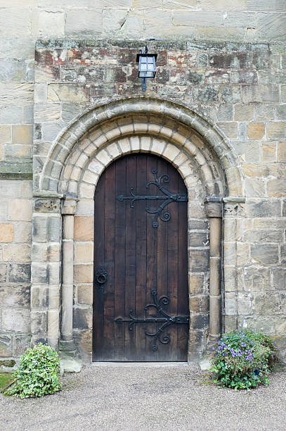 Church Doorway stock photo