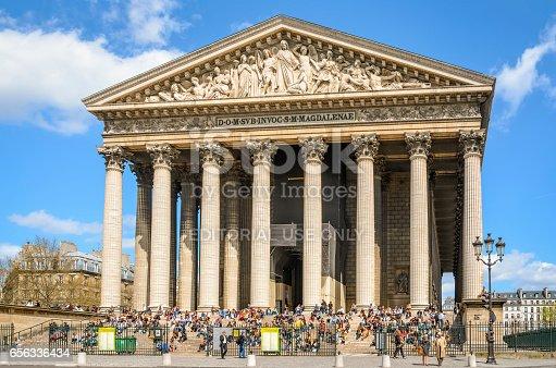 istock Church Eglise de la Madeleine in Paris 656336434
