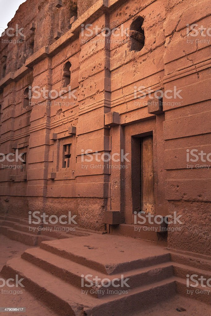 Church Emmanuel at Lalibela in Ethiopia stock photo