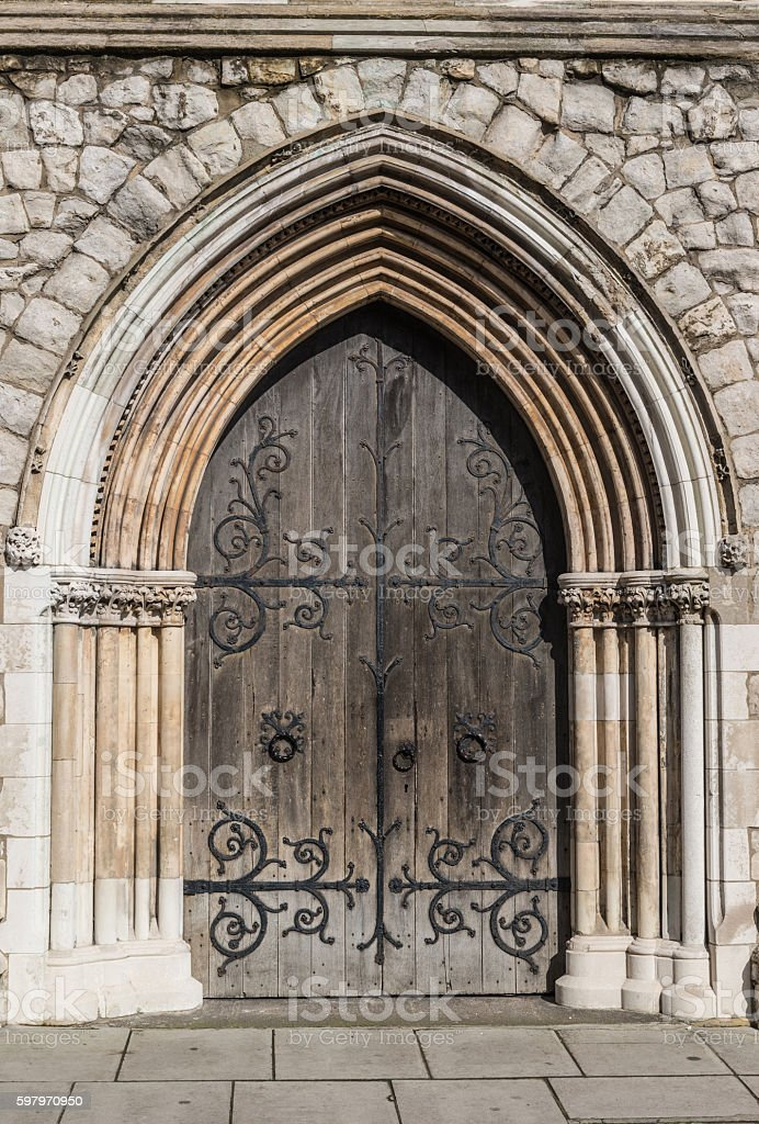 Doorway to the old church, England,