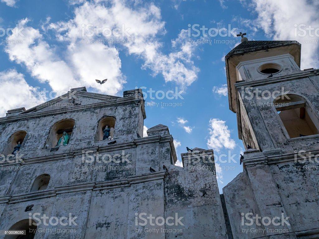 Church Facade in Granada royalty-free stock photo