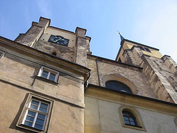 church facade in prague - fsachs78 stockfoto's en -beelden