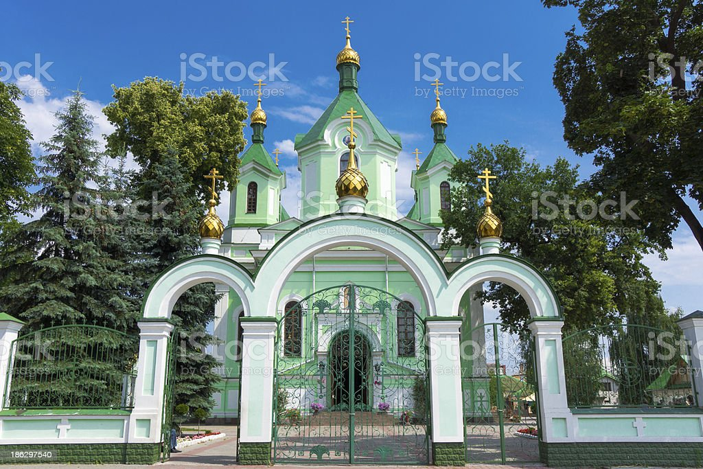 Church for visit by all wishing believers stock photo