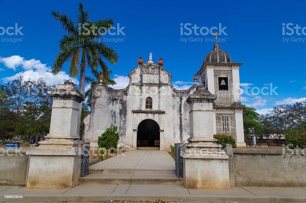 church from Dipilto, in Nueva Segovia, Nicaragua stock photo