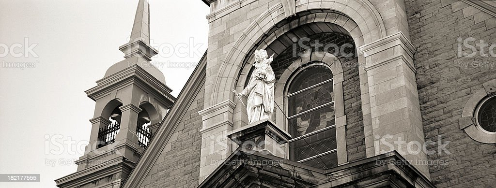 Church front, Montreal stock photo
