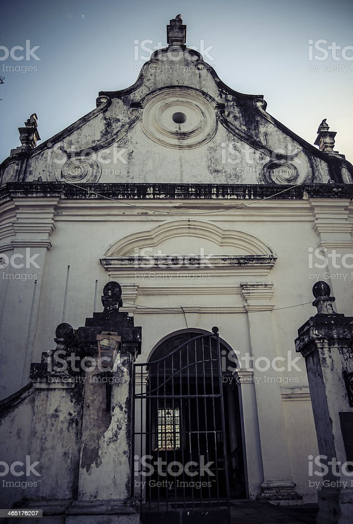 Church Front stock photo