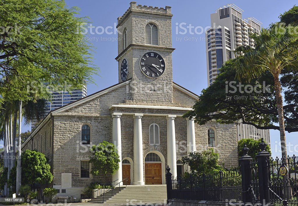 Church, Hawaii stock photo
