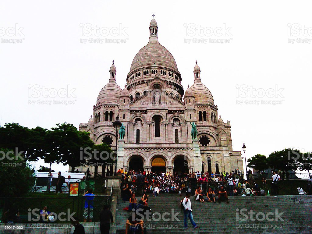 Church in a french park stock photo