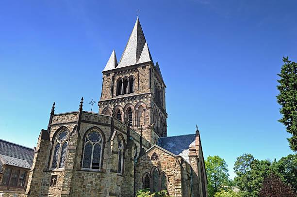 Church in a sunny day stock photo