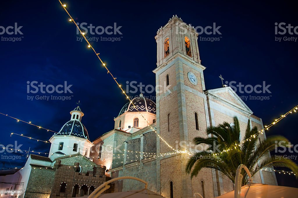 Iglesia en Altea, Costa Blanca, España - foto de stock