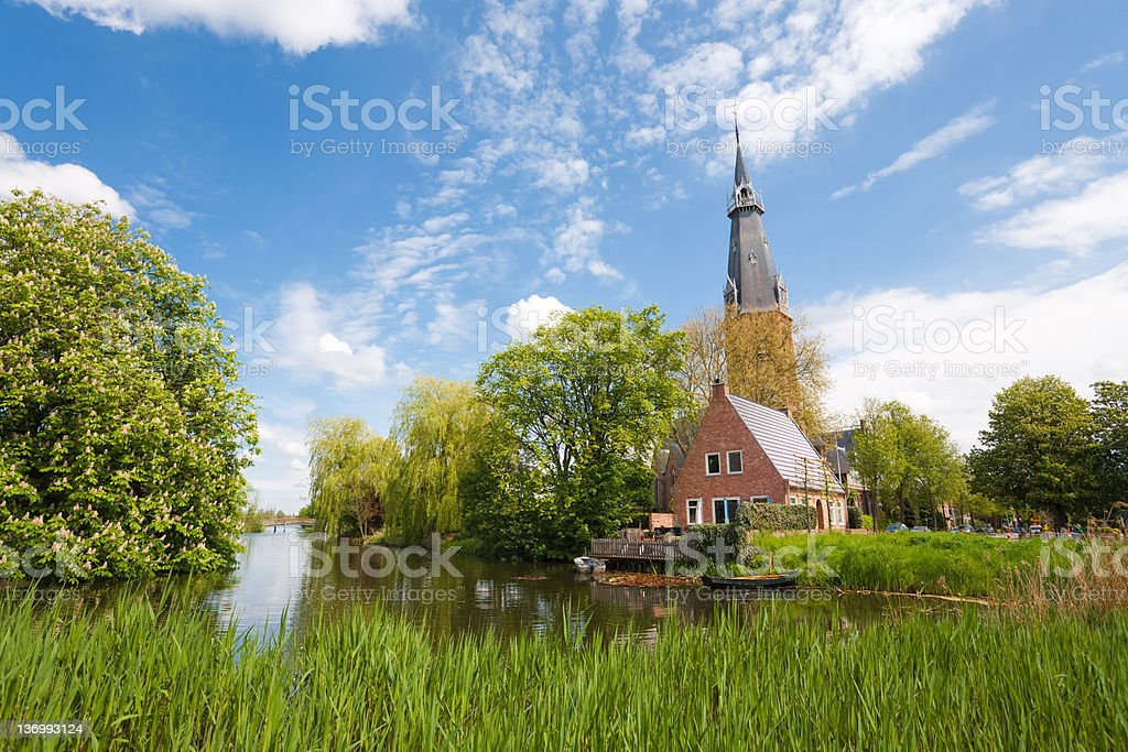 church in Amstelveen, Netherlands royalty-free stock photo